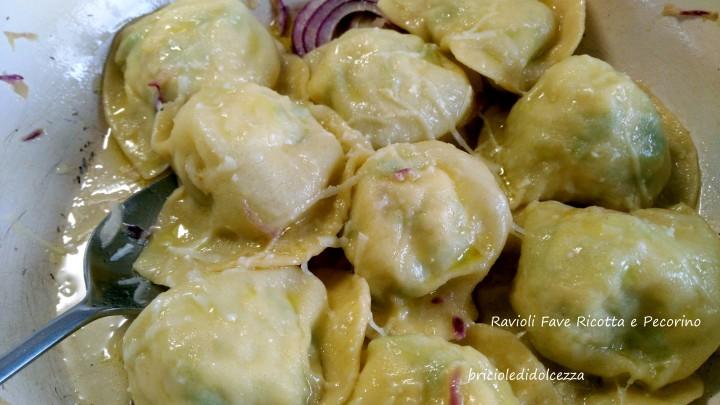 Ravioli Fave Ricotta e Pecorino
