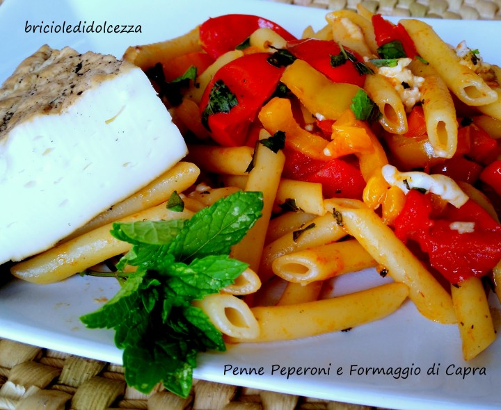 Penne Peperoni e Formaggio di Capra
