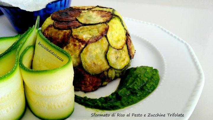 Sformato di Riso con Pesto e Zucchine Trifolate