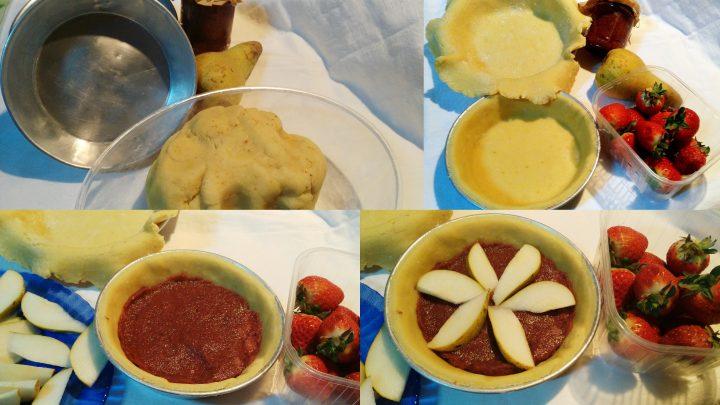 crostata pere e fragole