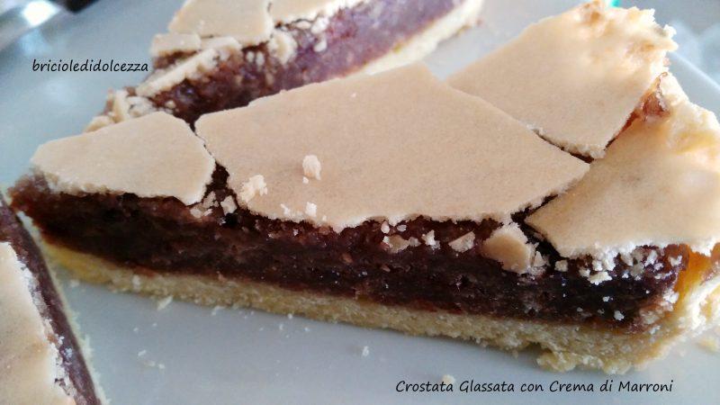 Crostata Glassata con Crema di Marroni