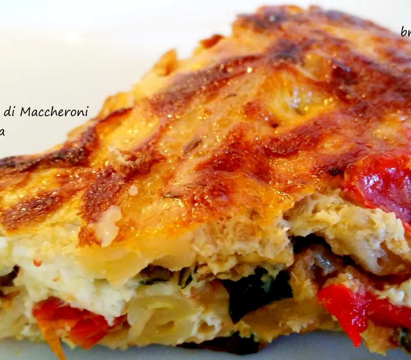 Pizza di Maccheroni Riciclata