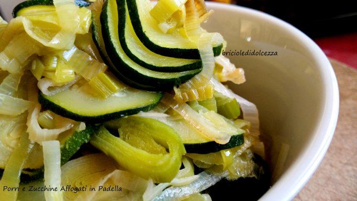 Porri e Zucchine Affogati in Padella