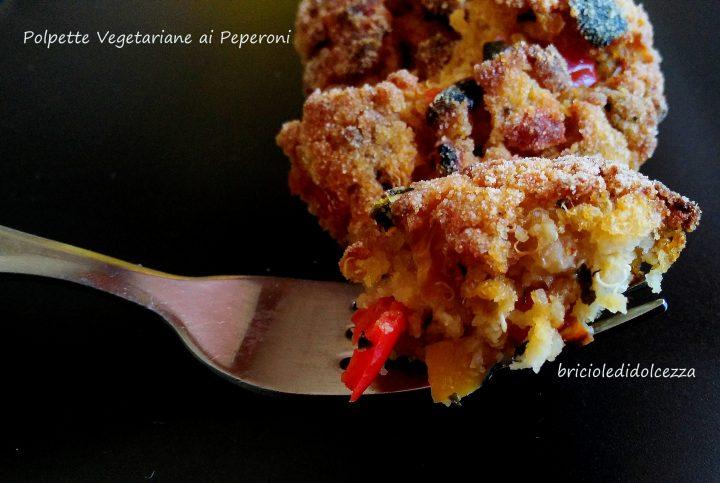 polpette vegetariane ai peperoni
