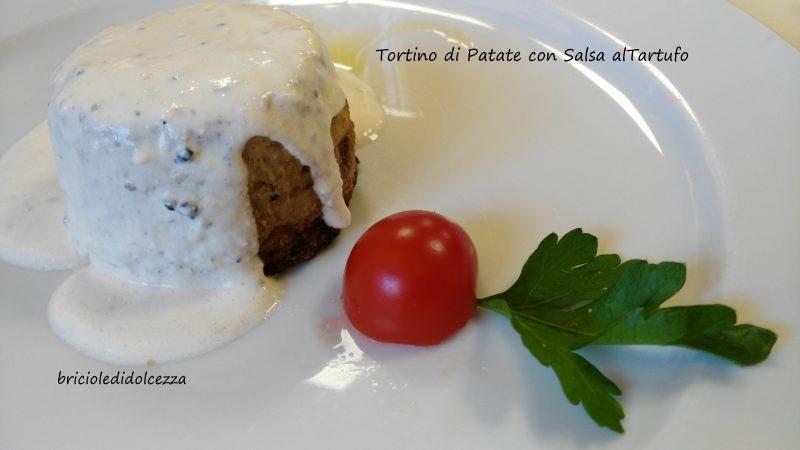 Tortino di Patate con Salsa al Tartufo