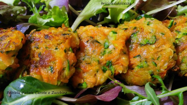 Frittelle Carote Patate e Zucchine