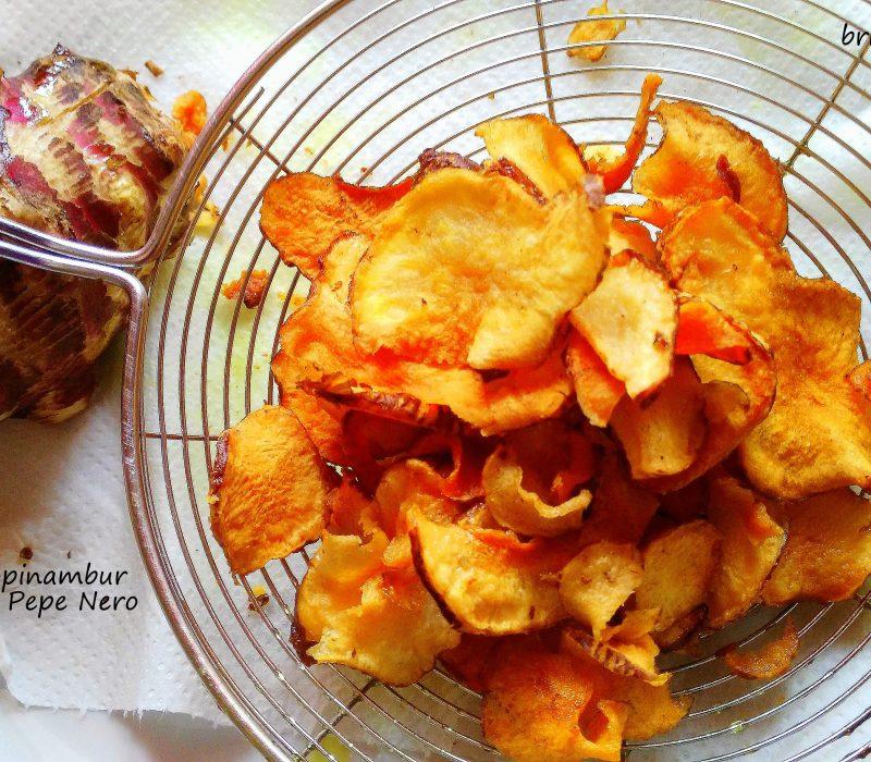 Chips di Topinambur Curcuma e Pepe Nero