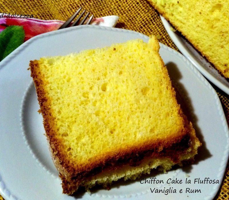 Chiffon Cake la fluffosa Vaniglia e Rum