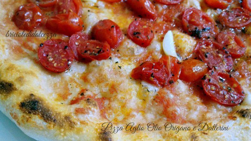 Pizza Aglio Olio Origano e Datterini