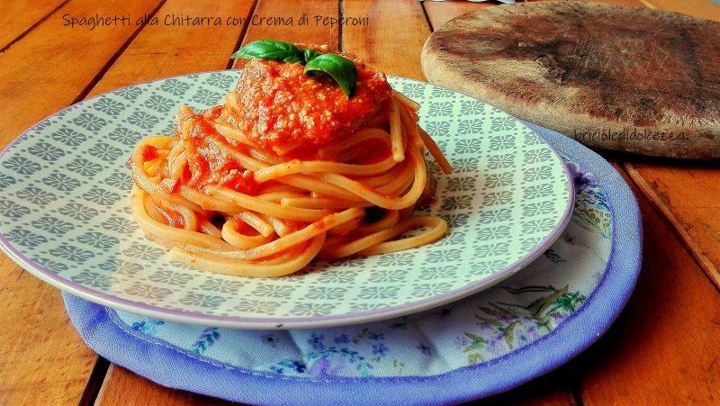 Spaghetti alla Chitarra con Crema di Peperoni