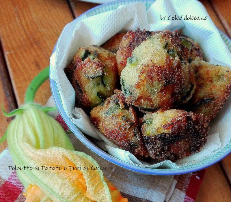 Polpette di Patate e Fiori di Zucca