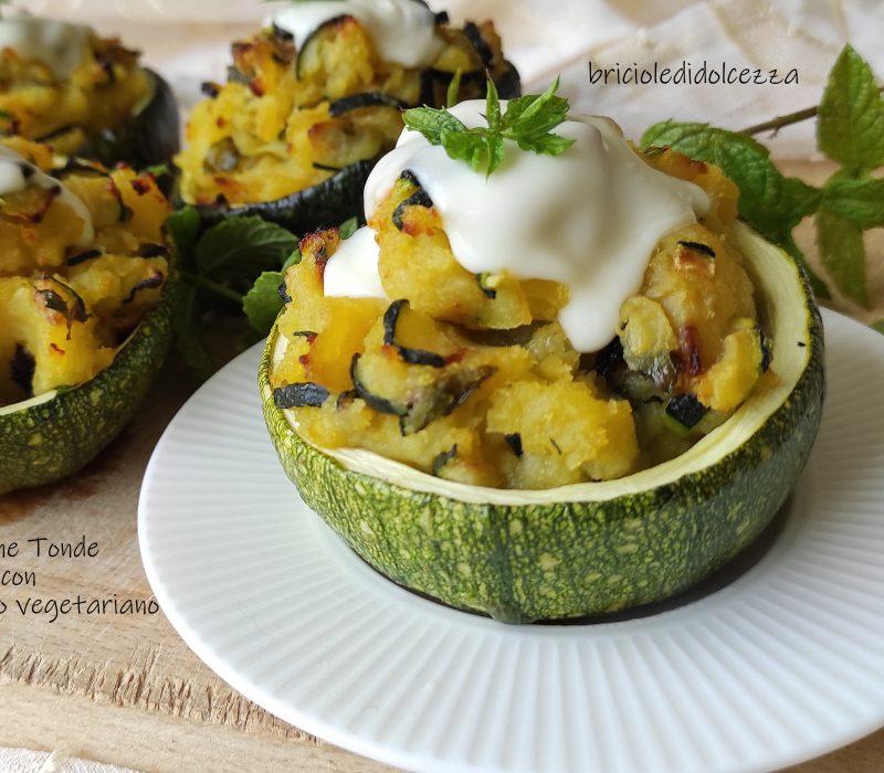Zucchine Tonde con Ripieno Vegetariano