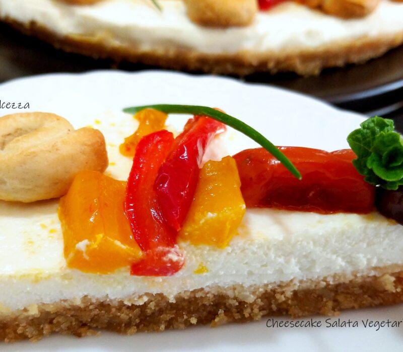 Cheesecake Salata Vegetariana