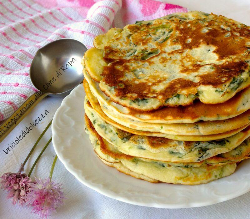 Pancake Salati Vegetariani alle Cime di Rapa