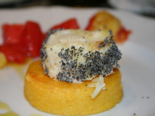 Medaglioni polenta e baccalà