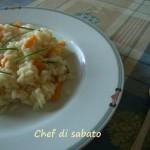 Risotto carote erba cipollina