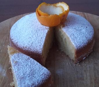 Torta all'arancia senza uova burro e latte