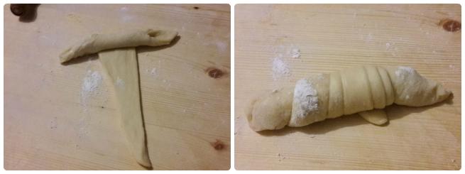 Croissant sfogliati con lievito naturale