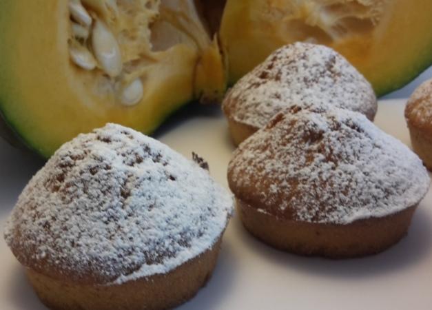Muffin zucca cardamomo e mandorle