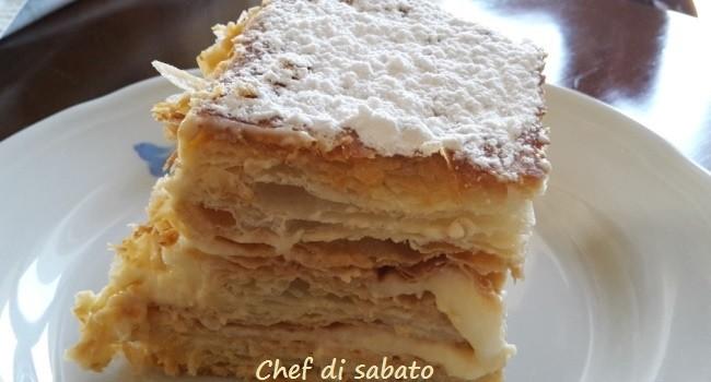 Millefoglie con crema diplomatica chef di sabatochef di for Decorazione torte millefoglie