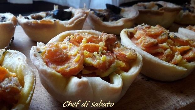 Cestini Di Pasta Brise Con Verdure Chef Di Sabato