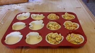 cestini di pasta brisè con verdure