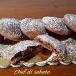 Biscotti al cacao con cuore di nutella