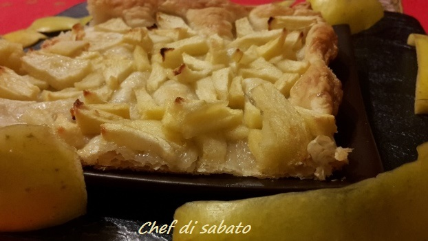 torta semplice e veloce alle mele con pasta sfoglia