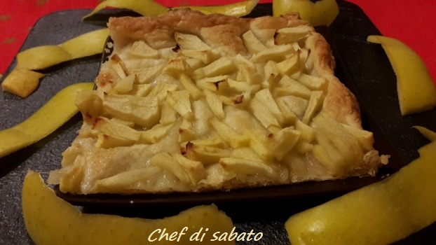 torta semplice e veloce alla mele con pasta sfoglia