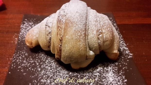 Croissant alla nutella con lievito naturale