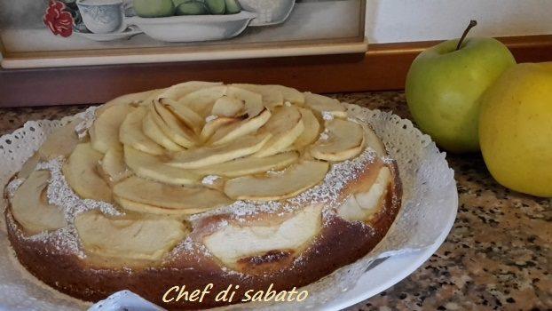 Torta mele e ricotta senza burro