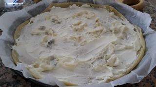 torta salata prosciutto cotto e gorgonzola