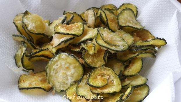 Chips di zucchine fritte