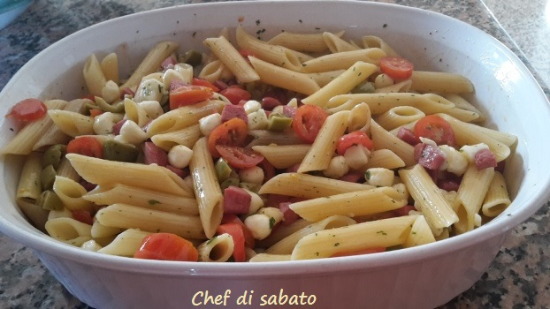 pasta fredda con wurstel