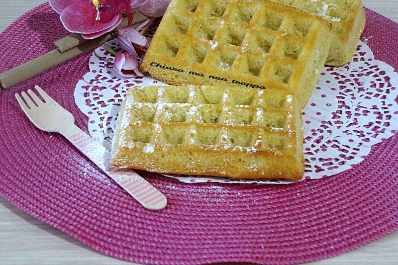 Waffle morbidi senza burro