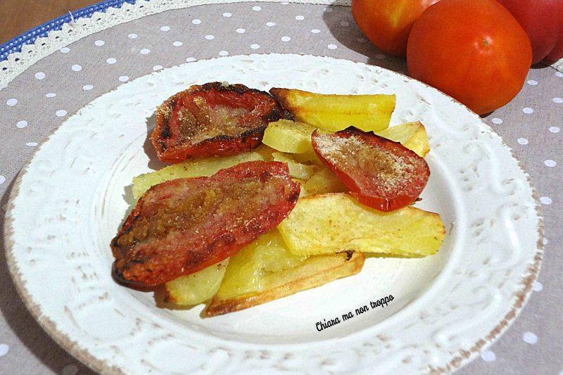 Pomodori ripieni al forno e patate
