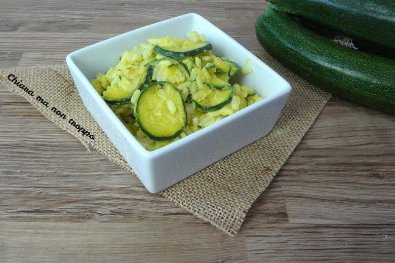 Riso e zucchine al forno