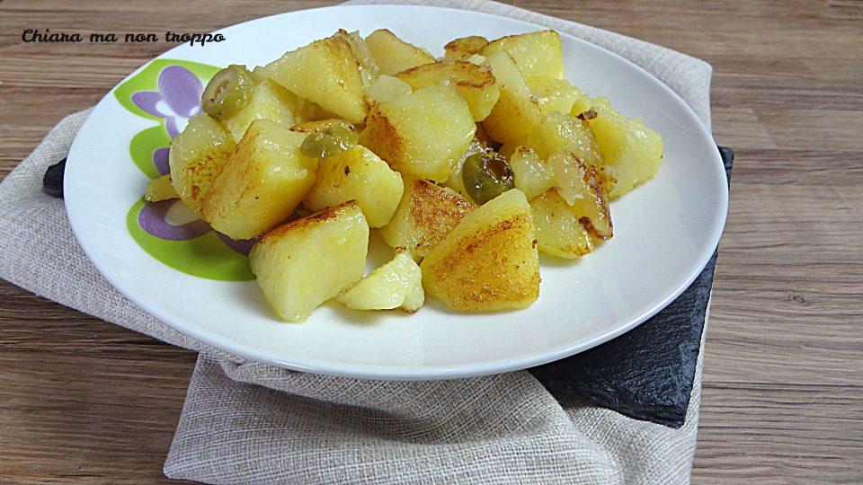 Patate e olive al forno