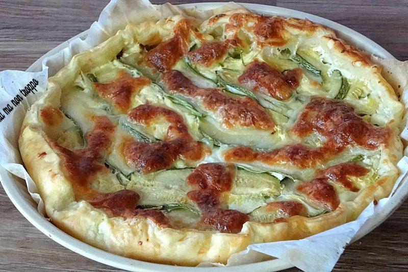 Torta salata zucchine e mozzarella