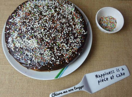 Torta con glassa al cioccolato e granella