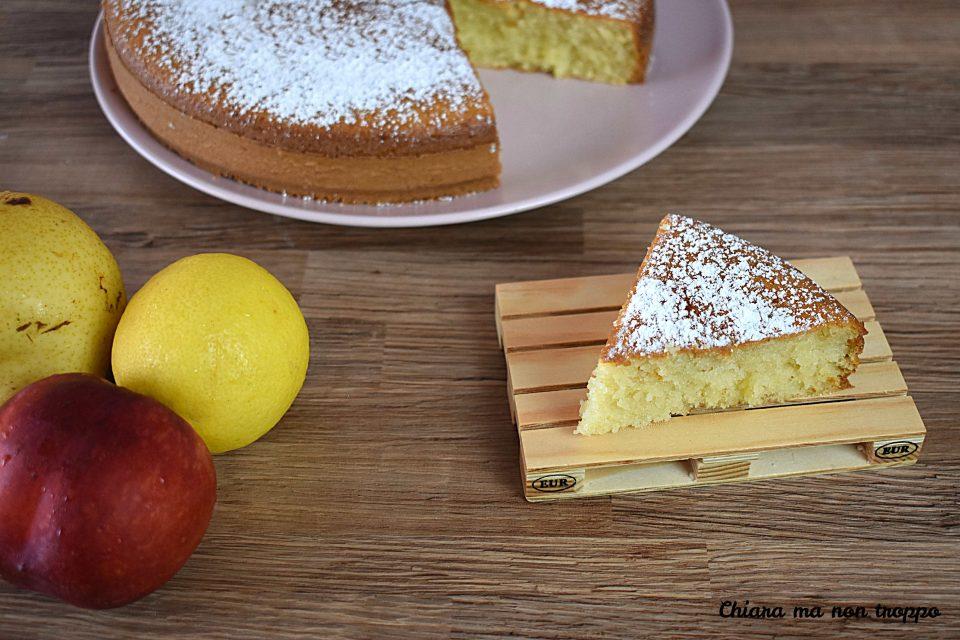 Torta con frutta frullata