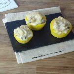 Cestini di polenta con calamari e funghi