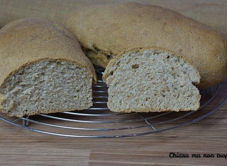 Pane integrale veloce e croccante