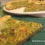 Torta salata broccoli e pancetta