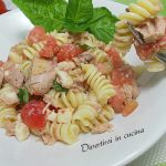 Pasta fredda con tonno pomodorini e olive