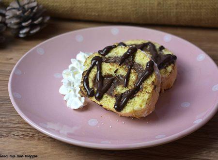 Biscuit rollè con crema al cioccolato