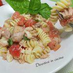 Pasta fredda con pomodorini e olive