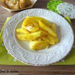 Spicchi di patate al forno con pancetta