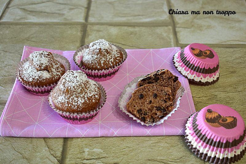 Muffin cacao e gocce di cioccolato