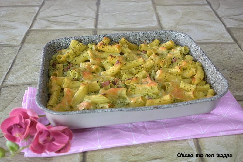 Pasta al forno con crema di broccoli